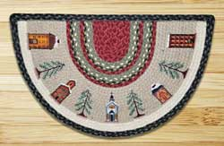 Winter Village Half Moon Braided Jute Rug -  Small