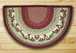 Cranberries Half Moon Braided Jute Rug -  Small