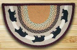 Cabin Bear Half Moon Braided Jute Rug -  Small