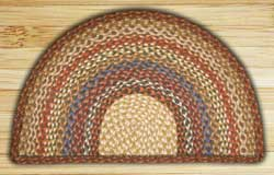 Honey, Vanilla, and Ginger Half Moon Braided Jute Rug - Large