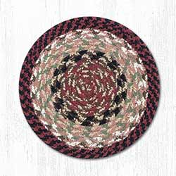 Burgundy and Mustard Cotton Braid Trivet