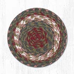 Burgundy and Gray Cotton Braid Trivet