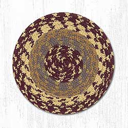 Burgundy, Gray, and Mustard Cotton Braid Trivet
