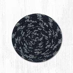 Brown, Black, and Charcoal Cotton Braid Coaster