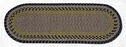 Brown, Black, and Charcoal Cotton Braid Tablerunner - 36 inch