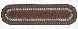 Burgundy and Gray Cotton Braid Tablerunner - 48 inch