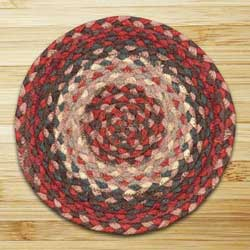 Burgundy Braided Tablemat - Round