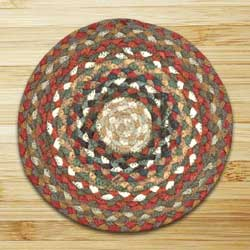 Honey, Vanilla, and Ginger Braided Tablemat - Round
