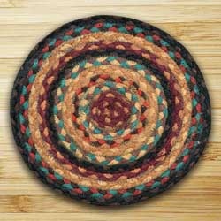 Russet and Butternut Squash Braided Tablemat - Round
