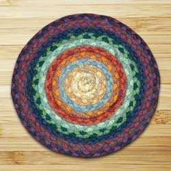 Rainbow 1 Braided Tablemat - Round