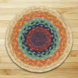 Rainbow 2 Braided Tablemat - Round