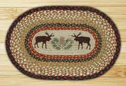 Moose and Pinecone Braided Placemat