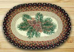 Pinecone Red Berry Braided Placemat
