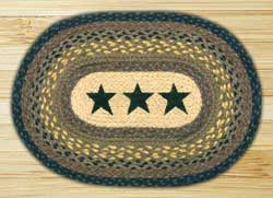 Black Stars Braided Placemat