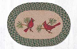 Cardinal Braided Placemat