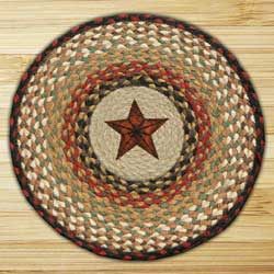 Barn Star Printed Chair Pad