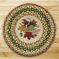 Autumn Leaves Printed Chair Pad