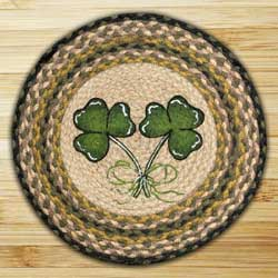 Shamrock Printed Chair Pad