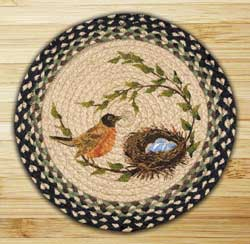 Robins Nest Printed Chair Pad