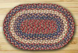Burgundy and Gray Braided Jute Placemat