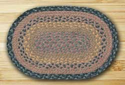 Brown, Black, and Charcoal Braided Jute Placemat
