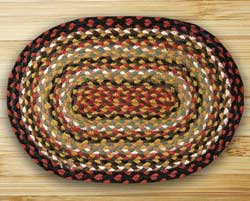 Burgundy, Mustard, and Ivory Braided Jute Placemat
