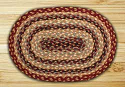 Burgundy, Gray, and Creme Braided Jute Placemat