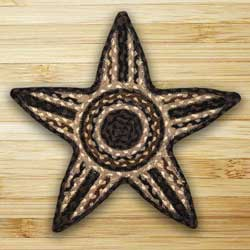 Mocha and Frappuccino Braided Star Trivet