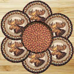 Moose Portrait Braided Trivet Set