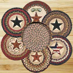 Mixed Stars Braided Trivet Set