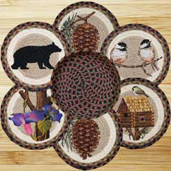 Cabin Bear Braided Trivet Set
