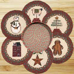 Winter Braided Trivet Set