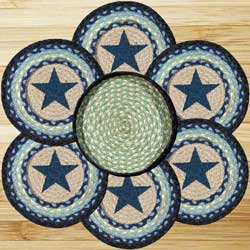 Blue Star Braided Trivet Set