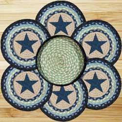 Blue Star Braided Trivet Set