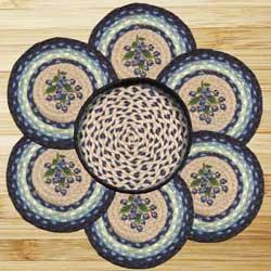 Blueberry Braided Trivet Set