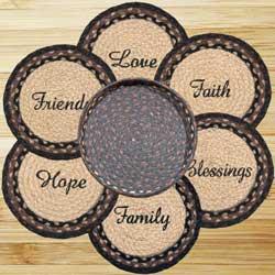 Blessings Braided Trivet Set