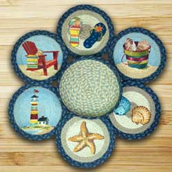 By The Sea Braided Trivet Set