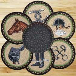 Equestrian Braided Trivet Set