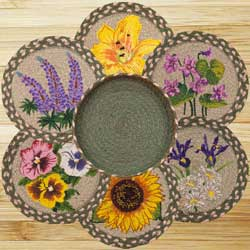 Flowers Braided Trivet Set