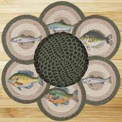 Fish Braided Jute Trivet Set