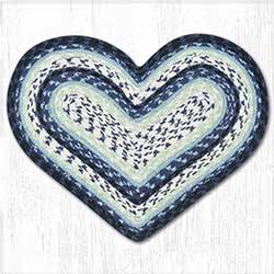 Blueberry and Creme Cotton Braid Placemat - Heart