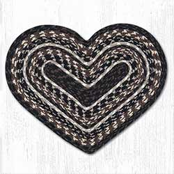 Mocha and Frappuccino Cotton Braid Placemat - Heart