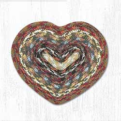 Honey, Vanilla, and Ginger Cotton Braid Trivet - Heart