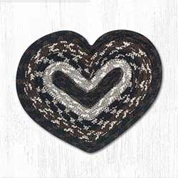 Mocha and Frappuccino Cotton Braid Trivet - Heart