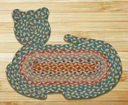 Multi 1 Cat Shaped Rug