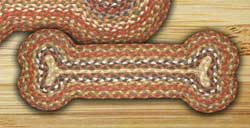 Honey, Vanilla, and Ginger Braided Dog Bone Rug - Small