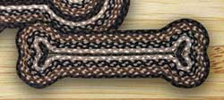 Mocha and Frappuccino Braided Dog Bone Rug - Small