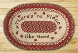 No Place Like Home Oval Patch Braided Rug