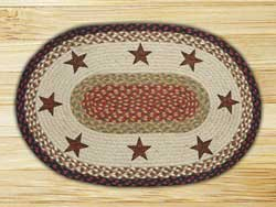 Barn Stars Oval Patch Braided Rug