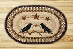 Crow & Barn Stars Oval Patch Braided Rug